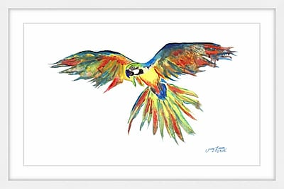 Bay Isle Home 'Jacko' Framed Watercolor Painting Print; 30'' H x 45'' W