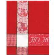 The Holiday Aisle Patterned Ho Ho Ho 100pct Cotton Dishcloth (Set of 6)