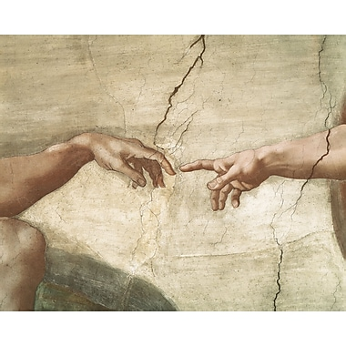 Astoria Grand 'Creation of Adam' by Michelangelo Print on Wrapped Canvas; 30'' H x 40'' W