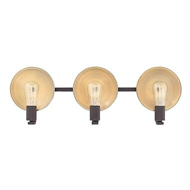 Ivy Bronx Anspach 3-Light Vanity Light; Oil Rubbed Bronze