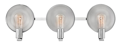 Ivy Bronx Anspach 3-Light Vanity Light; Polished Nickel