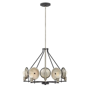Ivy Bronx Anspach 5-Light Candle-Style Chandelier; Aged Zinc