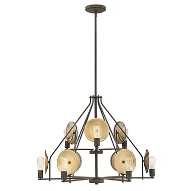 Ivy Bronx Anspach 9-Light Candle-Style Chandelier; Oil Rubbed Bronze