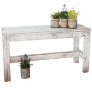 August Grove Marsh Reclaimed Wood Bench; White