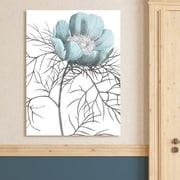 Ophelia & Co. 'Redoute Paeonia Tenuifolia' Graphic Art Print on Wrapped Canvas; 28'' H x 22'' W