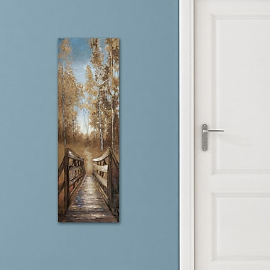 Charlton Home 'Country Crossing Soft' Print on Wrapped Canvas; 36'' H x 12'' W
