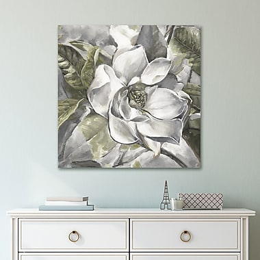 Charlton Home 'Summer Magnolia Light' Print on Wrapped Canvas; 24'' H x 24'' W