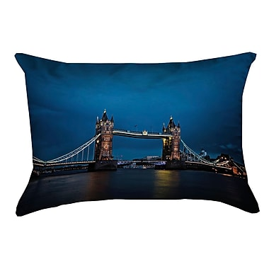 Latitude Run Holter Tower Bridge Rectangular Faux Linen Pillow Cover