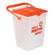 Busch Systems Custom Stamped Battery 2.25 Gallon Recycling Bin