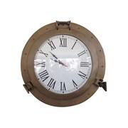 Longshore Tides Edison Ship Porthole 20'' Analog Wall Clock