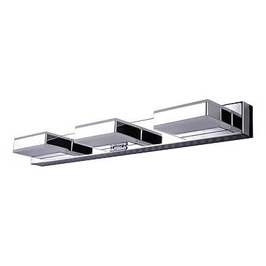 Orren Ellis Allender Stainless Steel Frame and Acrylic Cover 3-Light LED Flush Mount