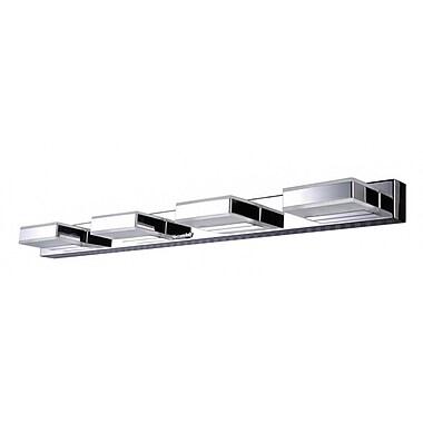 Orren Ellis Allender Stainless Steel Frame and Acrylic Cover 4-Light LED Flush Mount