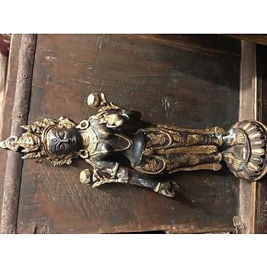 Bloomsbury Market Mckinney Buddhist Tara Duel Metal Statue (Set of 2)
