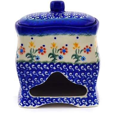 Polmedia Polish Pottery Spring Flowers w/ Lid Kitchen Canister