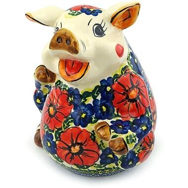 Polmedia Star Polish Pottery Piggy Bank