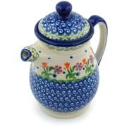 Polmedia Spring Flowers Polish Pottery 15 oz. Pitcher