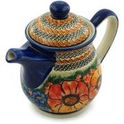 Polmedia Bright Beauty Polish Pottery 50 oz. Pitcher