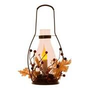 Glitzhome LED Iron/Glass Lantern