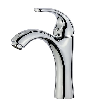 Bellaterra Home Seville Single Handle Bathroom Faucet w/ Drain Assembly; Polished Chrome
