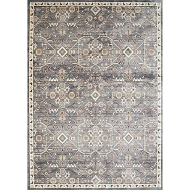 Charlton Home Jansson Blue/Gray Area Rug; Square 7'10'' x 7'10''