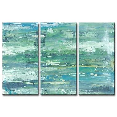 Brayden Studio 'Seafoam Coast' Acrylic Painting Print Multi-Piece Image on Canvas; 40'' H x 60'' W