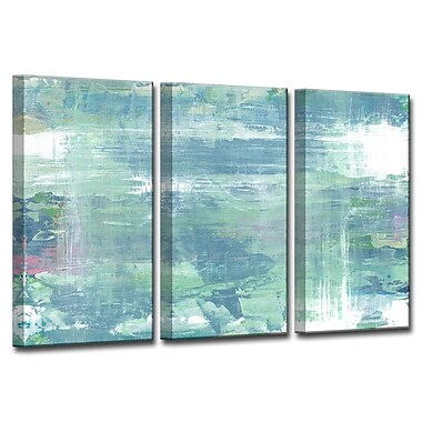 Brayden Studio 'Koi Pond Refections' Acrylic Painting Print Multi-Piece Image on Canvas