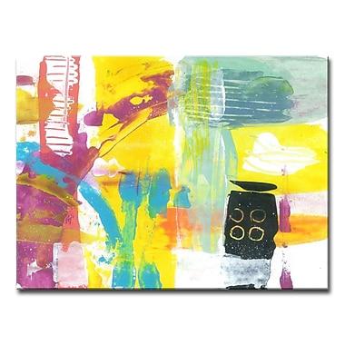 Brayden Studio 'Neon Beach Abstract' Acrylic Painting Print on Canvas; 20'' H x 30'' W