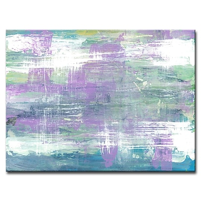 Brayden Studio 'Lavender Calm Morning' Acrylic Painting Print on Canvas; 30'' H x 40'' W