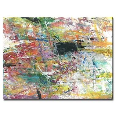 Brayden Studio 'Technicolor Space' Acrylic Painting Print on Canvas; 20'' H x 30'' W