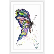 Harriet Bee 'Whimsical Butterfly' Framed Watercolor Painting Print; 18'' H x 12'' W