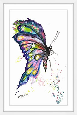 Harriet Bee 'Whimsical Butterfly' Framed Watercolor Painting Print; 45'' H x 30'' W