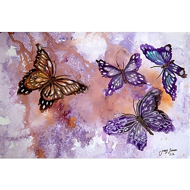 Harriet Bee 'Flight of Fancy II' Watercolor Painting Print on Wrapped Canvas; 24'' H x 36'' W