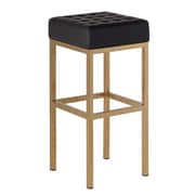 Everly Quinn Castilla 30'' Bar Stool; Black