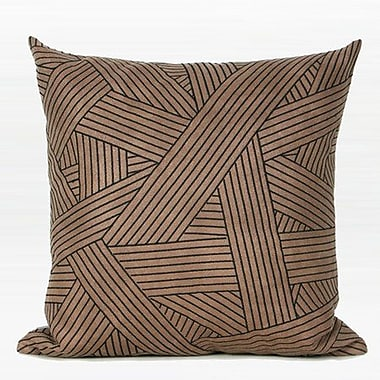 Everly Quinn Larisa Abstract Stripe Embroidered Throw Pillow; Down/Feather