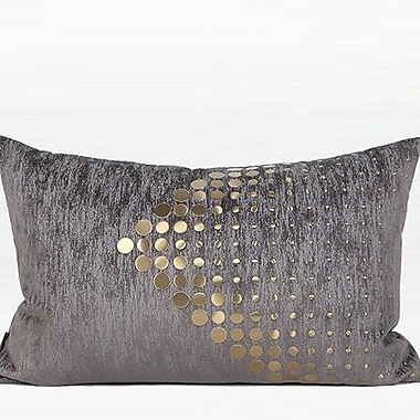 Everly Quinn Larisa Modern Textured Dots Arrow Pattern Lumbar Pillow; Down/Feather