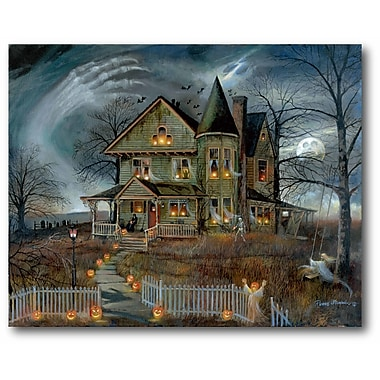 The Holiday Aisle 'Haunted House' Graphic Art Print on Canvas