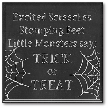 The Holiday Aisle 'Trick or Treat' Textual Art on Canvas