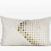 Everly Quinn Larisa Textured Dots Arrow Pattern Rectangular Pillow Cover
