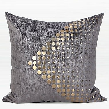 Everly Quinn Larisa Textured Dots Arrow Pattern Throw Pillow; Down/Feather