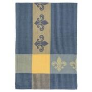 Fleur De Lis Living Patterned Fleur De Lis 100pct Cotton Dishcloth (Set of 6); Blue