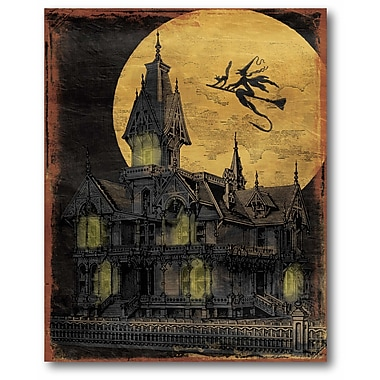 The Holiday Aisle 'Golden Moon Haunted House' Graphic Art Print on Canvas