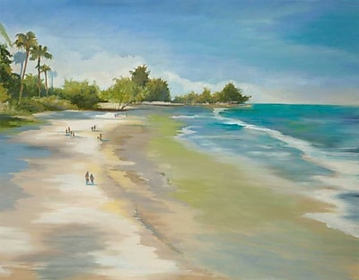 Highland Dunes 'Summer Bliss' Print on Wrapped Canvas; 30'' H x 40'' W