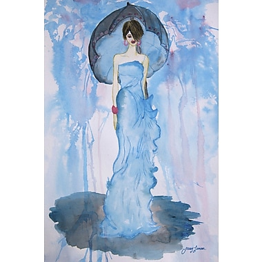 Mercer41 'Illusion' Watercolor Painting Print on Wrapped Canvas; 60'' H x 40'' W