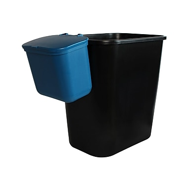 Busch Systems Office Combo 7.75 Gallon 2 Piece Recycling Bin and Waste Basket Set