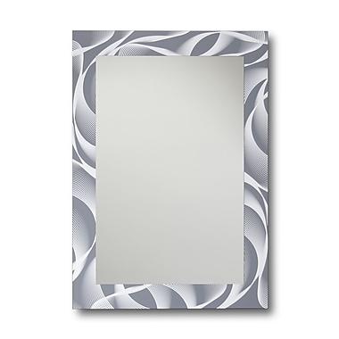 Orren Ellis Boyne Rectangle Swirl Decorative Wall Mirror