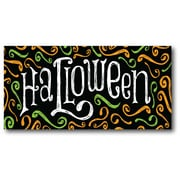 The Holiday Aisle 'Halloween Signs' Textual Art on Canvas