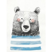 Oopsy Daisy Cheerful Bear Portrait Posters That Stick Wall Decal; 18'' H x 24'' W