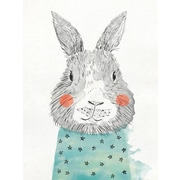 Oopsy Daisy Cheerful Bunny Portrait Posters That Stick Wall Decal; 28'' H x 35'' W