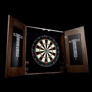 Barrington Billiards Company Webster Solid Wood Dartboard and Cabinet Set