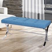 Rosdorf Park Gallant Upholstered Bedroom Bench; Purple